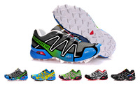 2013 Free shipping  Salomon SPEEDCROSS3 CS Running Shoes for Men Athletic Shoes Sports Shoes Size 40-45