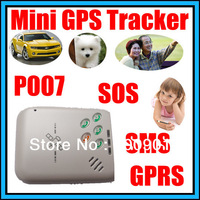 GSM Mini Car GPS Tracker P007 For Person Children Pets Vehicle Tracking device Conversation SOS Free shipping