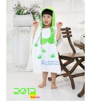 Free Shipping 100% Cotton Animals Girls Lovely  Nightgowns for little Grils Cotton Terry  Robes