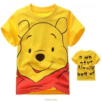 hot sale 100% cotton t shirt kids 2~9age wholesale cartoon print t-shirts fashion  boys clothing