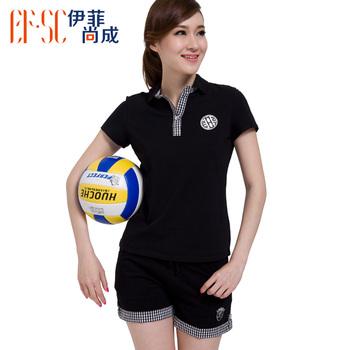 2013 summer new arrival polo shirt turn-down collar casual t-shirt shorts tennis shirt sports set female