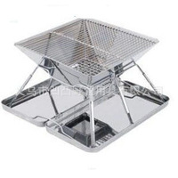 2 - 5 stainless steel folding portable BBQ grill bbq outdoor oven picnic white steel oven