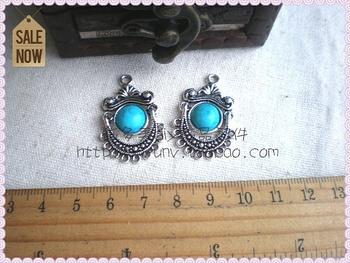 Diy accessories material handmade beaded zakka antique silver blue beads 9 33mm3 2 k400