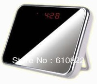 Free ShippingMirror Digital Clock Hidden Camera With Motion Detection HD 1280x960 Mini DV DVR Clock Security Camera