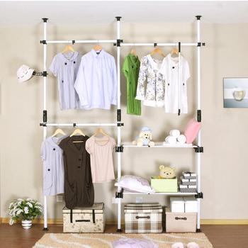 Combination wardrobe simple wardrobe steelframe wardrobe hanger furniture coatroom Small overall