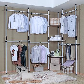 Simple hanger combination wardrobe simple wardrobe clothes storage cabinet Large folding furniture