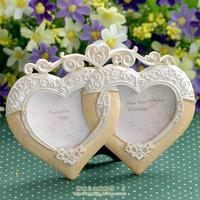 Luxury fashion home rustic resin photo frame photo frame love birthday gift luxury beige