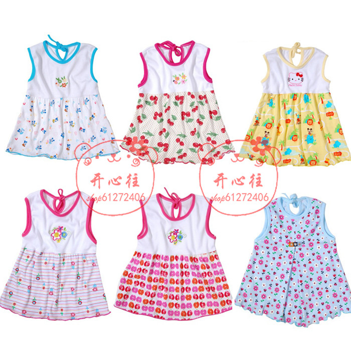 Baby skirt child one-piece dress female nightgown summer female child(China (Mainland))