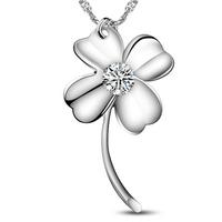925 pure silver 2013 necklace fashion accessories female short design four leaf clover pendant necklace female