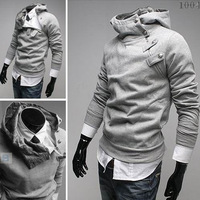 Free Shipping 2013 NEW Hot High Collar Men's Jackets ,Men's Sweatshirt,Dust Coat ,Hoodies Clothes,cotton wholesale