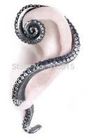 Kraken Octopus Stud Earring Wrap Cuff