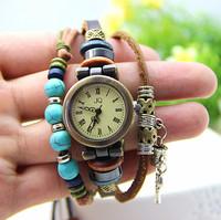 New Arrival leather bracelet watches for women dress watches quartz watch 1pcs/lot