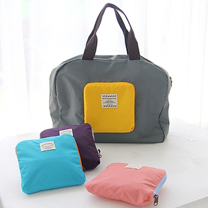 1PCS Quality Folding Waterproof OXFORD Travel Storage Shopping Bag Tote Handbag Solid Color
