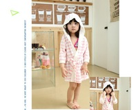 Free Shipping Grils Bathrobe, Kid robe boys girls Stripe prints nightgown bathrobe for girls clothes dora