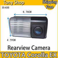 Special Originated Car Rear View Camera for Toyota Corolla EX with 170 degree Waterproof Lens and 1/4 CMOS Sensor