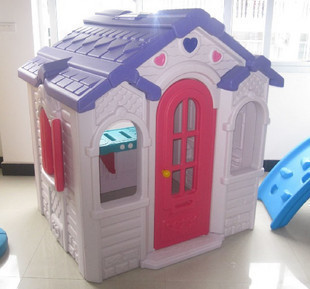 Child play house baby slide plastic play house chocolate game house(China (Mainland))