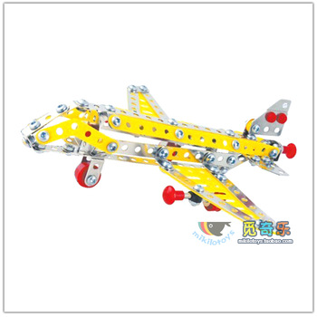 Alloy assembling toys metal assembling model airliner b23