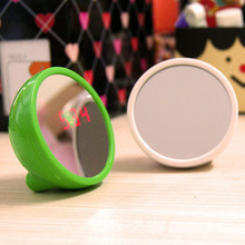 Lounged electronic clock led lcd beauty mirror alarm clock mute mirror clock  FREE SHIPPING