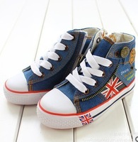 Size 25-35 children canvas shoes kids shoes boys girls high shoes sports shoes free shipping