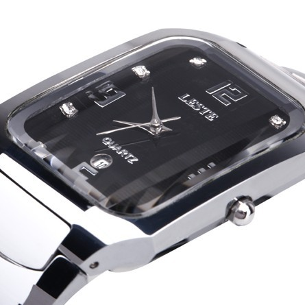 Original commercial popular male watches casual strip whole tungsten steel table waterproof mens watch(China (Mainland))