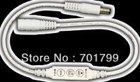 R102-WD;Mini 3-Key Single Color LED dimmer,DC5-24V input,12A/288W output;with DC connector,plug and play