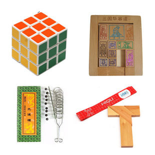 Adult child wooden educational toys magic cube t hurong tao Chinese puzzle piece set(China (Mainland))