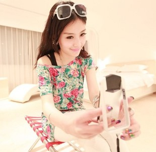 2013 new fashion Ladies 1708 2013 medium-long jumper vintage fancy long t-shirt tee free gift(China (Mainland))