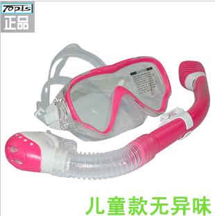 Submersible topis child mirror breathing tube set snorkel triratna dry full face mask submersible