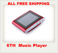 1.8 inch 6th mp3 mp4 player support 2gb-8gb-16gb micro TF card expand, No built-in memory FM Radio Games, ONLY MP3 free ship