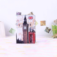 "Free shipping Big Ben pattern Protective Leather Case Cover Stand for 7"" Tablet PC MID Stand Case for 7 inch PC PT7002"