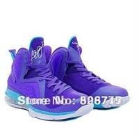 Free shippingHot sale 2012 mens lebron 9 summit lake hornets basketball shoes, purple shoes sport  by  size US 8~12