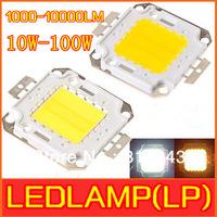 Wholesale 10w 20w 30w 50w 100W LED white/warm white/rgb  High Power 1000-10000LM LED Lamp SMD Chips free shipping