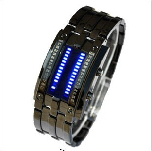 Free Shipping Male fashion tungsten steel mens watch led watch waterproof electronic watch(China (Mainland))