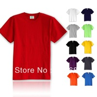 2013 summer sport fashion t-shirts for men and 11 pure colour big sizel -4xl mens shirts cotton tee Hot saleFree shipping