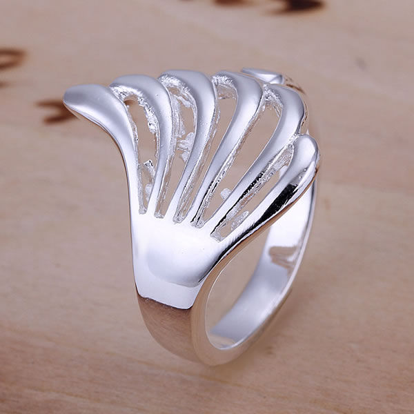 R118 Hollow Wing Ring 925 silver ring,high quality ,fashion jewelry, Nickle free,antiallergic(China (Mainland))
