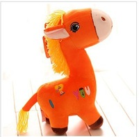 Free shipping, lovely  Orange pony , plush toys stuffed toys, children's gifts