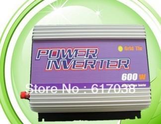 600w grid tie power inverter for 22v-60v solar panel cell 24v 36v 48v system   Free shipping