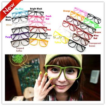 Women Clear Lens Glasses Square Party Fancy Dress Big Nerd Unisex 16 Colors YJ0002