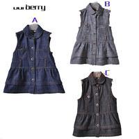 2014 New HOT brand B* Children Girl's Summer Cute denim dress dress baby wear size 80-120 wholesale  free shipping