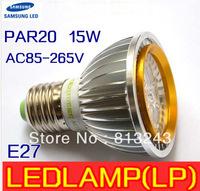 FEDEX Free shipping High Quality LED Light PAR 20 15W 5X3W Spotlight E27,20pcs/lot sliver 110V 220V Cool White Warm White PAR20