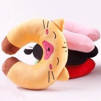 free shipping 5pcs 5808 cartoon animal plush travel car health care pillow nap pillow