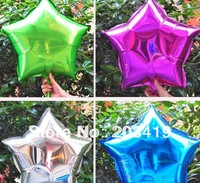 18 inch colorful star shiny foil mylar helium Balloons for Birthday Wedding Party Decor 7 color option CN post