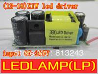 (12-18)X1W LED lamp driver, 12W/13W/14W/15W/16W/17W/18W in common use, 110V/220V lights driver, led power, 10pcs free shipping