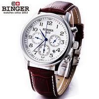 Accusative binger needle mechanical watch male watch stainless steel belt watch waterproof mens watch for commercial