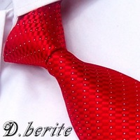 BP183 Red Checked 100% Silk Jacquard Classic Woven Man's Tie Necktie
