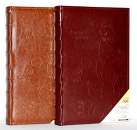Photo album Large capacity leather embossed wide beauty high quality big 6 4d interlays photo album photo album belt 300