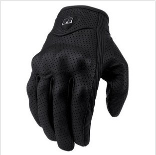 Free Shipping New ICON Goat Leather Pursuit Gloves Racing Bike Sport Cycling Motorcycle Full Finger Gloves Size M, L, XL(China (Mainland))