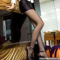 Summer plus size elastic cool ultra transparent Core-spun Yarn stockings pantyhose