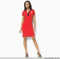 2013 polo Slim beautiful dress{red  blue  black white}