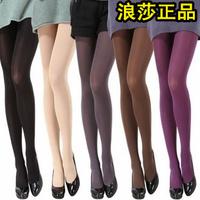 Langsha velvet pantyhose autumn and winter thickening stockings multicolour socks stovepipe socks